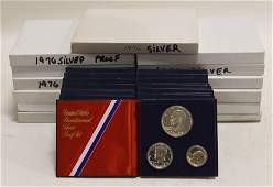 (26) 1976 3 pc. US 40% Silver Proof Sets