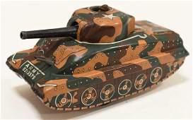 Linemar Tin Friction Army Tank