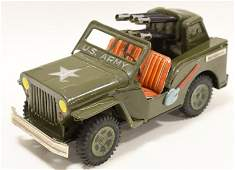Japan Tin Litho Friction US Army Jeep