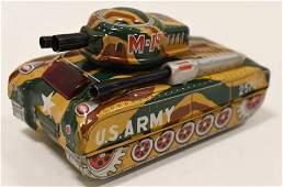 SY Japan Tin Friction US Army M17 Tank
