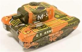Japan Tin Friction US Army M51 Tank
