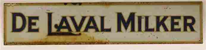 Vintage DST De Laval Milker Advertising Sign