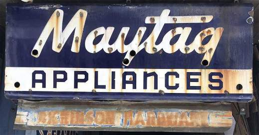Vintage Artkraft Maytag double sided neon