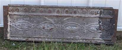 Louis Sullivan Cast Iron Frieze Panel