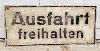 Metal German Exit Sign
