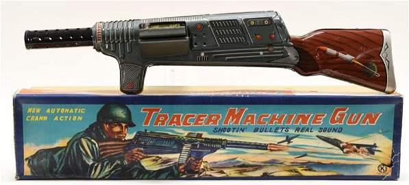Tin Litho Sankei Japan Tracer Machine Gun