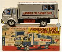Japan Tin Friction Armored Car Savings Bank