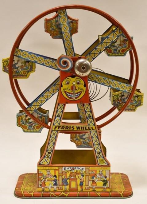 J. Chein Tin Litho Windup Ferris Wheel