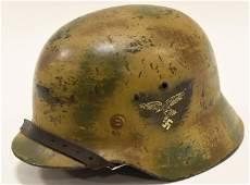WWII German Luftwaffe Camouflage Helmet