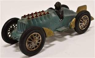 Early Cast Iron Hubley Golden Arrow Racer