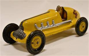 Marx Pressed Steel Race Car #4 Push Model