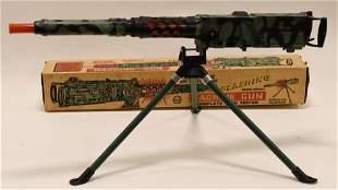 Marx Battery Op. Flashing Machine Gun w/ Tripod