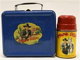 1950 Aladdin Hopalong Cassidy Blue Metal Lunch Box