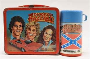 1983 Aladdin The Dukes of Hazzard Metal Lunch Box