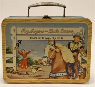 Thermos Co Roy Rogers & Dale Evans Metal Lunch Box