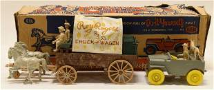Ideal Toys Roy Rogers Fix-It Chuck Wagon and Jeep