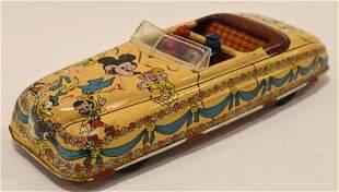 Marx Tin Windup Disney Parade Roadster
