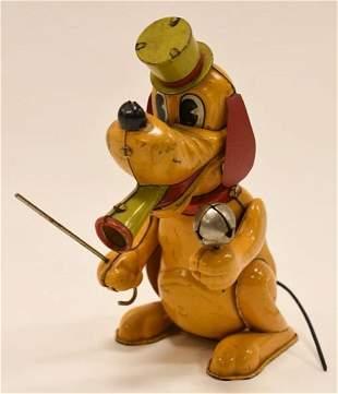 Linemar Tin Litho Windup Pluto The Drum Major
