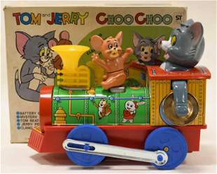 Modern Toys Tin Battery Op Tom and Jerry Choo Choo