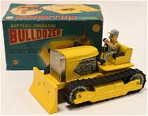 Linemar Toys Tin Battery Op. Bulldozer