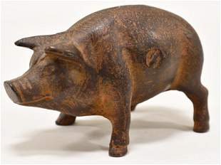 Cast Iron Pig Coin Bank