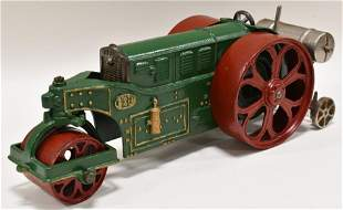 """Early Cast Iron  Hubley """"Huber"""" Road Roller"""