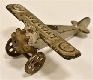 Cast Iron Hubley Lucky Boy Airplane