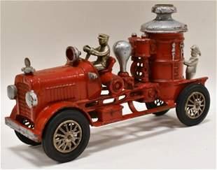 Early Cast Iron Hubley Pumper Fire Engine Truck