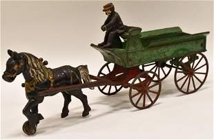 Early Cast Iron Kenton Horse Drawn Delivery Wagon