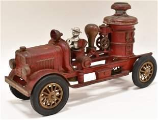 Early Cast Iron Hubley Fire Pumper Truck