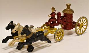 Restored Hubley Cast Iron Horse Drawn Pumper