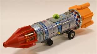 Japan Tin Battery Op. Apollo 15 Rocket Spaceship