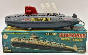 Linemar Tin Litho Battery Op. Atomic Submarine