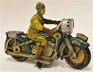 Germany Arnold Tin Litho Windup A-643 Motorcycle