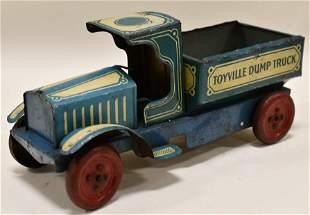Nonpareil Tin Litho Toyville Dump Truck