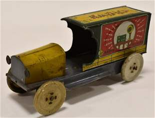 Mohawk Toys Tin Litho Radio Supplies Truck