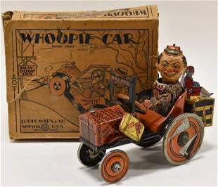 Marx Tin Litho Windup College Whoopie Car