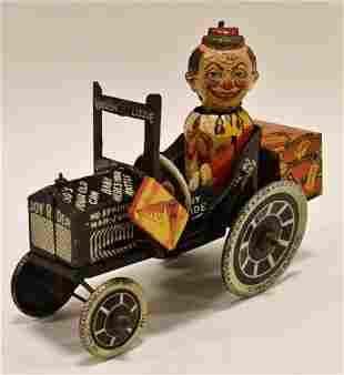Marx Tin Windup Joy Rider Jalopy Crazy Car