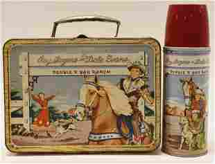 Thermos Roy Rogers Dale Evans Metal Lunch Box