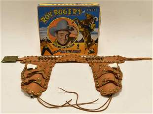 Roy Rogers and Trigger Cap Gun Holster Outfit