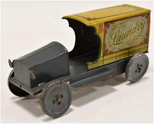 Mohawk Toys Tin Litho O.K. Laundry Truck