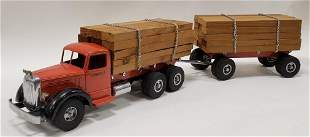 Smith Miller L Mack Lumber Truck w/ Pup Trailer