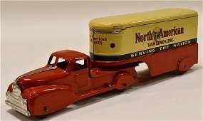 Marx Windup North American Van Lines Truck