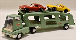 Mini-Tonka Car Carrier with (2) Corvette's