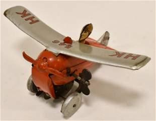 U.S. Zone Germany Tin Windup Rollover Plane