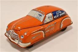 Courtland Tin Litho Windup City Meat Market Car