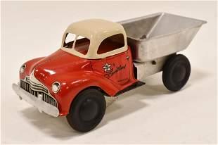 Courtland Tin Litho Windup Dump Truck