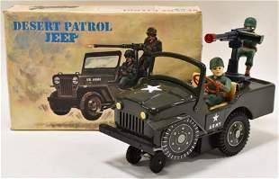Modern Toys Battery Op. Tin Desert Patrol Jeep