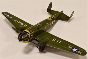 Marx Windup Tin Litho U.S. Army Fighter Plane #6