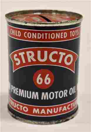 Structo 66 Premium Motor Oil Can Coin Bank